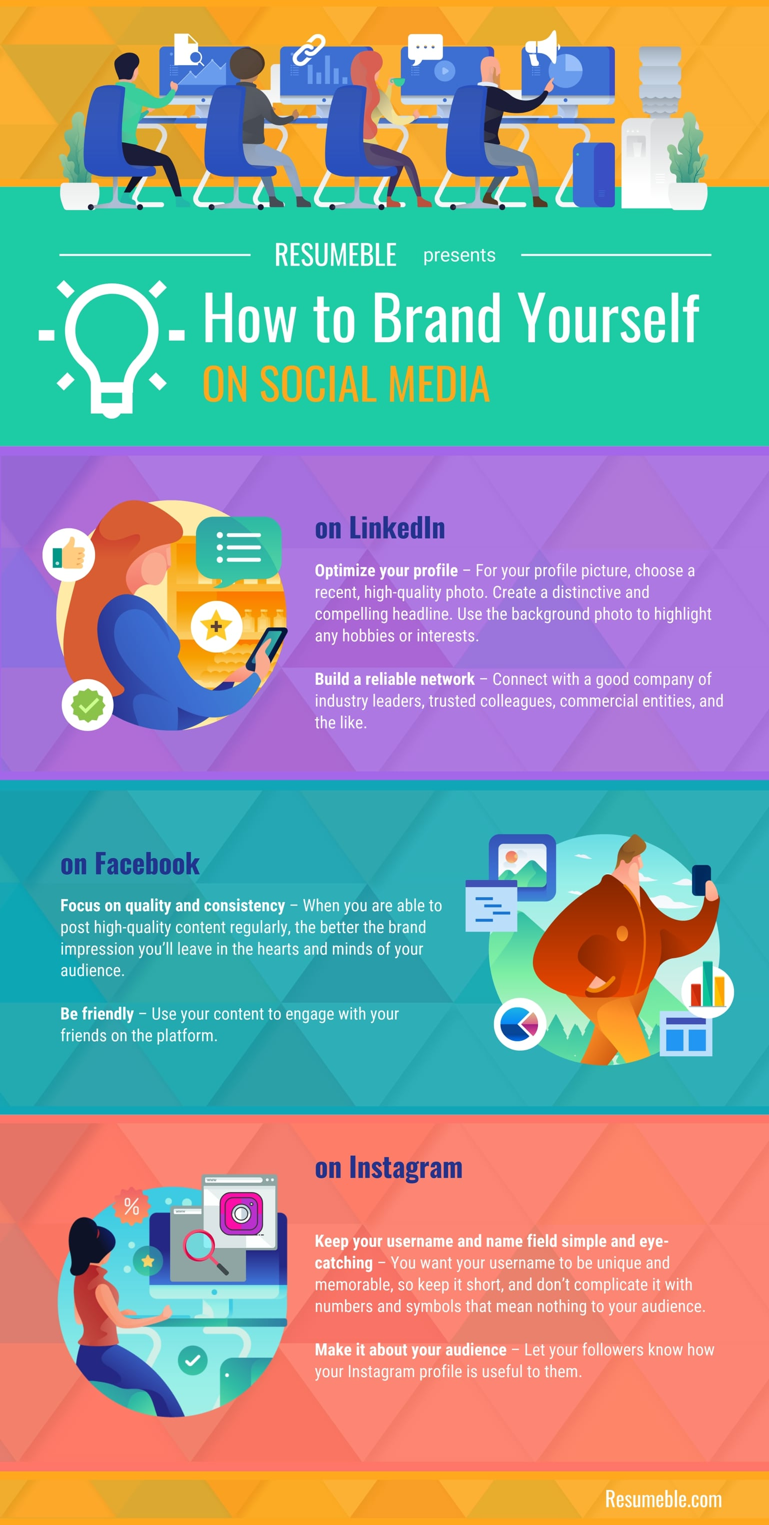 how to brand yourself on social media