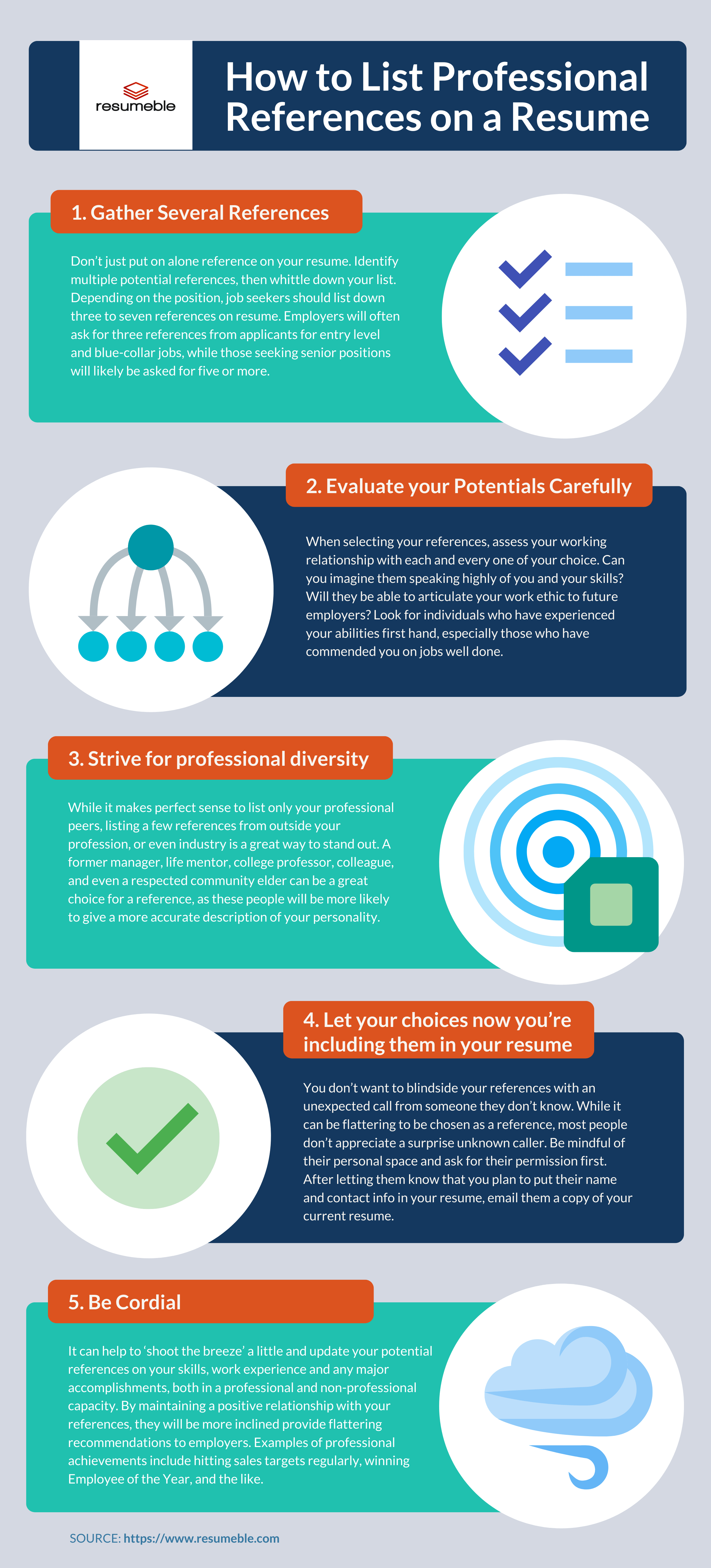 infographic references on resume