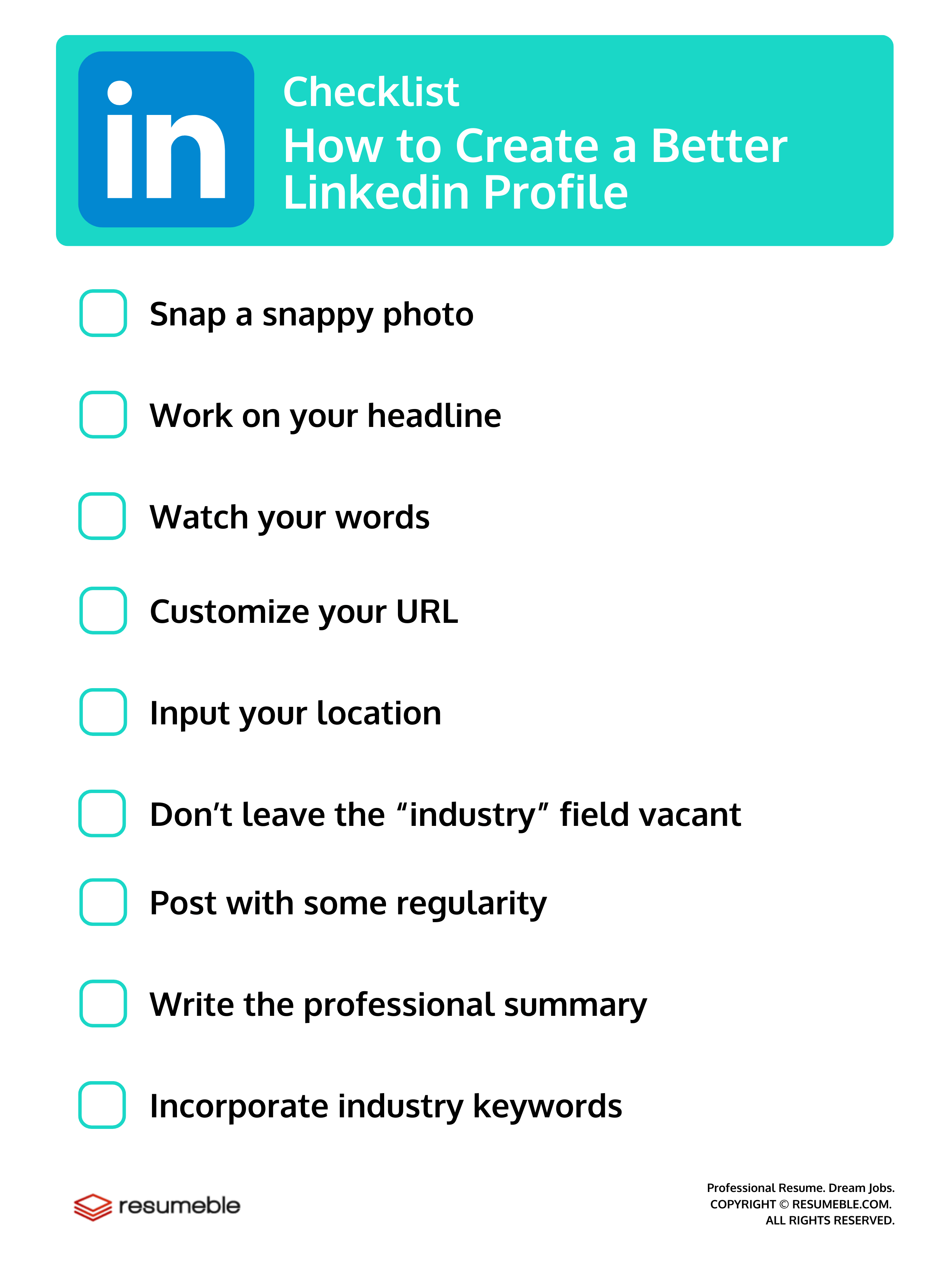 How to Create a Better Linkedin Profile – Checklist