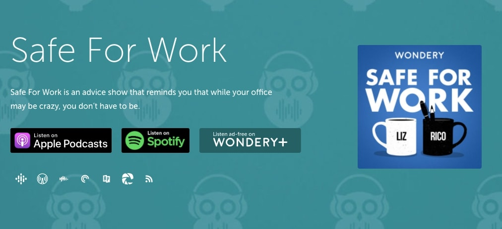 Safe For Work – Liz Dolan and Rico Gagliano - podcast
